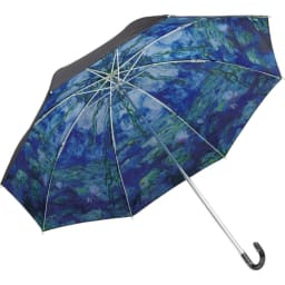 名画フリルジャンプ傘&折りたたみ傘セット 折りたたみ傘(ア)モネ(睡蓮)