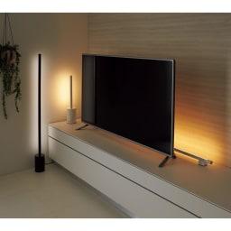 インテリアやPCのライティングに! ショートマンクス LEDバーライト 使用イメージ