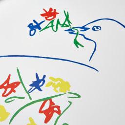 ピカソアートフレーム (ア)花とハト
