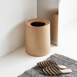 ideaco/イデアコ チューブラー ダストボックス チューブラーオム(ウッド調) (イ)オークウッド 洗面所で