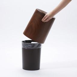 ideaco/イデアコ チューブラー ダストボックス チューブラーオム(ウッド調)
