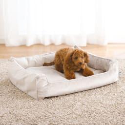 防水仕様のペット用ベッド L