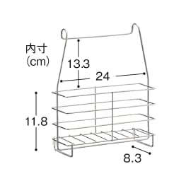 ステンレス製シャンプーバスケット お得な2個セット ※使用時は床に置くか、ボトルを取り出してください。