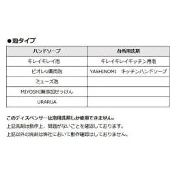 EKOセンサーソープディスペンサー 【泡タイプ】対応洗剤(※メーカー調べ)