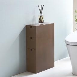 スリム 引き出し トイレ収納庫 3段 狭いトイレでも手軽に収納スペースを増やせます。