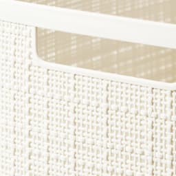 CURVER JUTE/カーバー ジュート ワゴン バスケット横長2個 (ア)オフホワイト