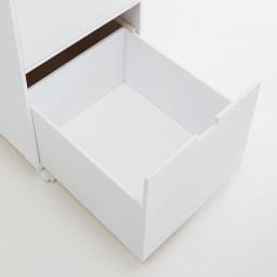 Marblenome/マーブルノーム 薄型サニタリーストッカー 幅45cm 引き出し 引き出しの内部も化粧仕上げ。