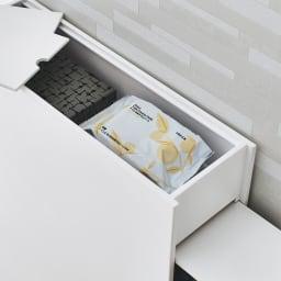 Glipa/グリーパ トイレ隙間収納 天板部にはフタ式の収納スペース。芳香剤やクリーナーなどをしまって。