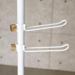 DRAW A LINE/ドローアライン 可動式コートハンガー 2個組 (イ)ホワイト