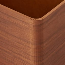 曲木の薄型ダストボックス ハイ (ア)ダークブラウン
