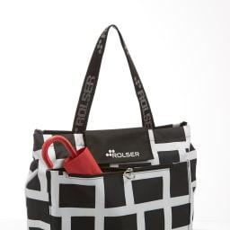 ROLSER/ロルサー  保冷・保温付きバショッピングバッグ 便利なファスナーポケット付き。
