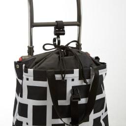ROLSER/ロルサー ショッピングカート 4輪カート+保冷・保温付きバッグ 内側には巾着型の蓋つきで、物が増えたときも安心です。