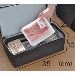 ROLSER/ロルサー ショッピングカート 4輪カート+保冷・保温付きバッグ 下段はワイヤー入り。生鮮食品もつぶれない保冷機能付き。