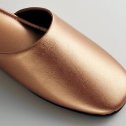 スタイリッシュゲストスリッパ 4足組 光沢のあるレザー調で、高級感があります。