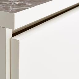 Marmo/マルモ 石目柄天板ベンチ収納 ワゴン1杯・幅59.5cm高さ40.5cm