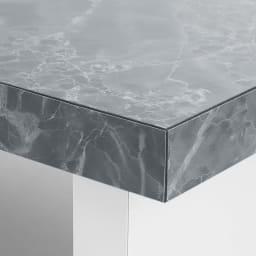 Marmo/マルモ 石目柄天板玄関踏み台 幅60cm・幅90cm・幅120cm 小口部分にも水汚れに強い石目調素材を使用。つま先を引っ掛けて汚してしまっても簡単にふき取りが可能です。