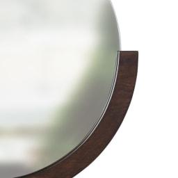 MIRA/ミラ 壁掛けミラー・ウォールミラー 小サイズ径56cm[umbra・アンブラ] ダークブラウン ウォルナットに合うシックで落ち着いたカラー