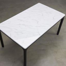 ALMER/アルメール 大理石調ダイニングテーブル 幅145