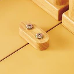Lierre/リエール ダイニングシリーズ テーブル幅80 テーブルの連結部分は裏側からネジで固定でき、安定感もしっかり。