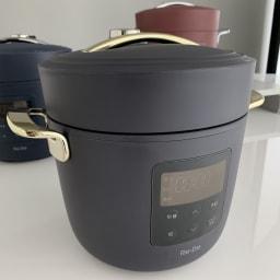 Re・De Pot/リデポット 電気圧力鍋2L (ア)ブラックの蓋と取手部分がゴールドです。(イ)と(ウ)はシルバー、(エ)ホワイトはシャンパンゴールドになります。