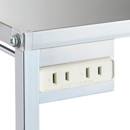 ステンレス天板キッチン作業台 コンセント付き作業台 幅68cm 1500W、2口コンセント付き