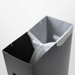 シンク下収納蓋付ゴミ箱 同色2個組 ゴミ箱には切れ込みが入っているので、袋の掛け方によっては分別が可能に。