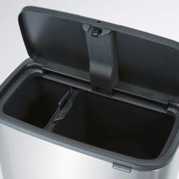 brabantia/ブラバンシア Boタッチビン ステンレス 「2分別」容量:11L+23L 燃えるゴミ・燃えないゴミを分別して捨てられます。