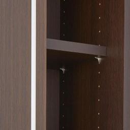 Rerve/レルヴェ 壁面収納引き戸キッチンパントリー 奥行45cm幅50cm高さ180cm 棚板は全段可動式で、収納物に合わせて細やかに調整が可能です。