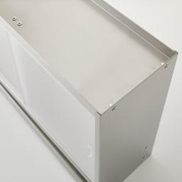 ステンレスカウンター上収納 引き出し付き 幅45奥行15cm 天面にもキッチン雑貨を置くことができます。