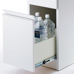 Anya/アーニャ キッチンすき間収納 ハイタイプ(引き出し3段) 幅40cm奥行55cm高さ178cm 最下段の引き出しは2Lサイズのペットボトルも収納可能。