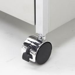 ステンレスシンク下収納 引き出し収納 ワイドタイプ キャスターも付属しているので移動も楽に行えます。