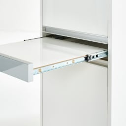 Ymir/ユミル 隠せる家電収納 幅55奥行55cm高さ178cm キッチンでの作業中に便利な引き出し式の作業台付き。