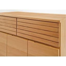 Large/ラルジュ 天然木ダストボックス 4分別(ペール2個付き) 幅82cm奥行40cm高さ87.5cm オークとウォルナットの突板を贅沢に使用。横格子デザインはお部屋を広く感じさせる効果も。