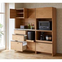 Lana/ラナ ステントップボード レンジボード コンパクトでも充実の収納ボリュームでキッチンもあっという間にすっきり。