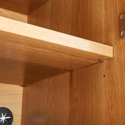 Lana/ラナ ステントップボード レンジボード 扉収納内の可動棚は3cmピッチで高さ調節できます。