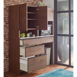 Lana/ラナ ステントップボード カップボード コンパクトでも充実の収納ボリュームでキッチンもあっという間にすっきり。