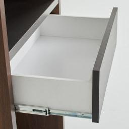 Milovy/ミロヴィ キッチンボード ダストボード 幅66cm 引き出しは、必要なものをサッと取り出せるスライドレール式。