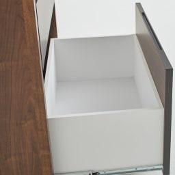 Milovy/ミロヴィ キッチンボード カップボード 幅66cm 引き出し内部も化粧仕上げだから、清潔にお使いいただけます。