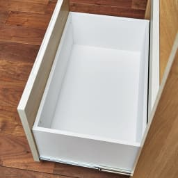 Milovy/ミロヴィ キッチンボード カップボード 幅66cm 引き出し内部も化粧仕上げで汚れに強くお手入れラクラク。