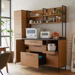 Mattone/マットーネ キッチンシリーズ 幅40cm キャビネット コンパクトでも充実の収納ボリュームでキッチンはすっきり