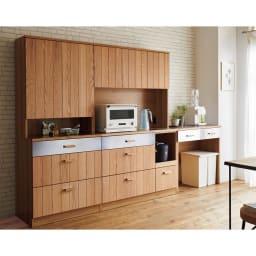 Torua/トルア キッチンボード 幅120cm カウンター シリーズコーディネート例