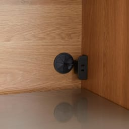 Torua/トルア キッチンボード 幅120cm キッチンボード 家電収納部右奥にはコンセント1口を付属しました。