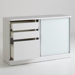Orga/オルガ 引き戸キッチン収納 カウンター 幅160cm ※写真は 幅140タイプ