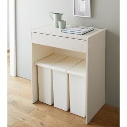 Enkel/エンケル キッチンシリーズ 幅72cm オープンカウンター ゴミ箱上に設置すれば効率よく収納できます。作業中のものをちょい置きするのにもぴったり。