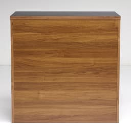 Granite/グラニト アイランド間仕切りキッチンカウンター幅90cm 引き出しタイプ 背面のウォルナット木目柄は、昨今の日本の内装にも多くみられるカラー。ヨーロッパのおしゃれなキッチンを簡単に再現できます。