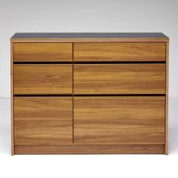 Granite/グラニト アイランド間仕切りキッチンカウンター幅120cm 引き出しタイプ 取っ手をなくし、モダンですっきりとしたデザインに仕上げています。