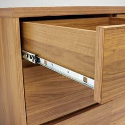 Granite/グラニト アイランド間仕切りキッチンカウンター幅140cm 引き出しタイプ 引き出しには全段フルスライドレールを採用し、滑らかな開け閉めを可能に。
