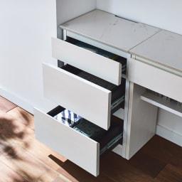 Caato/カット カウンター下収納 チェスト幅40.5cm 高さ60.5cm チェストは3段で細かく分けて収納できます。