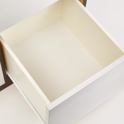 Liam/リアム キッチンカウンター チェスト 幅100cm 高さ100cm 引出し内部は汚れに強くて美しい化粧仕上げ。引出し内部は清潔感あふれるホワイト。