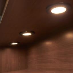 LEDライト付きサイドボード 幅200cm
